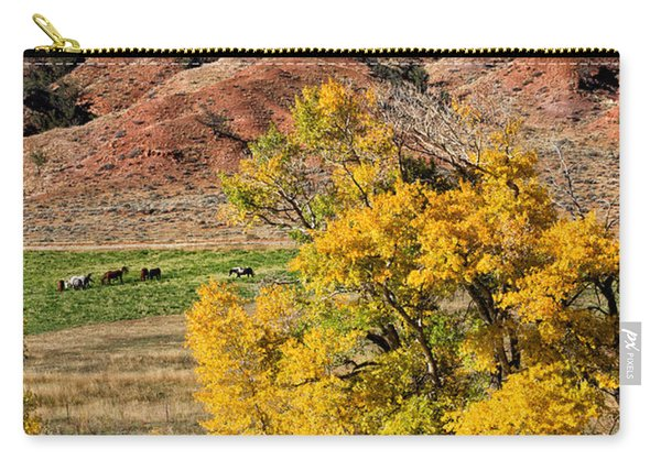 Wind River Horse Ranch In Autumn Carry-all Pouch