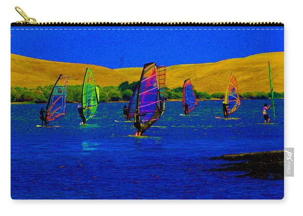 Wind Surf Lessons Carry-all Pouch