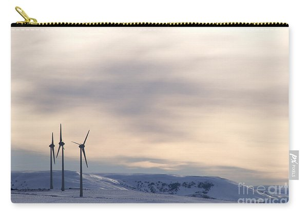 Wind Turbines In Winter Carry-all Pouch