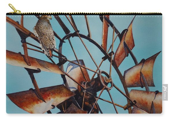 Windmill And Hawk Carry-all Pouch