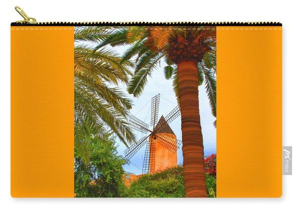 Windmill In Palma De Mallorca Carry-all Pouch