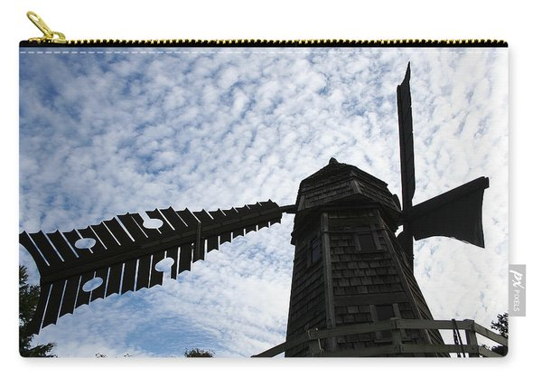 Windmill On A Cloudy Day Carry-all Pouch