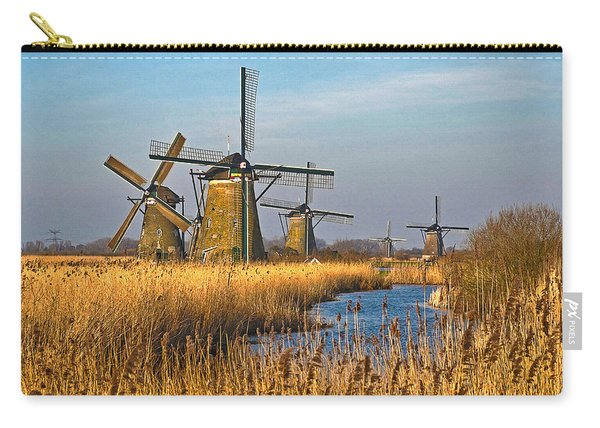 Windmills And Reeds Near Kinderdijk Carry-all Pouch