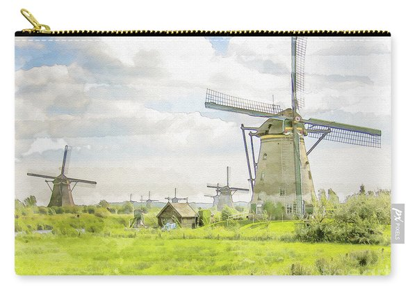 Windmills At Kinderdijk In  The Netherlands Carry-all Pouch