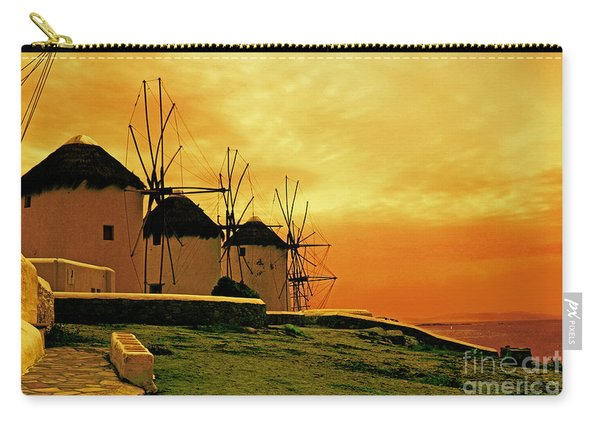 Windmills Of Mykonos Carry-all Pouch