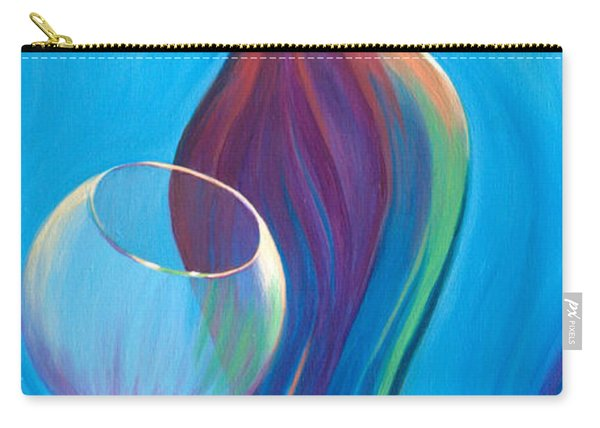 Carry-all Pouch featuring the painting A Wine Affair by Sandi Whetzel