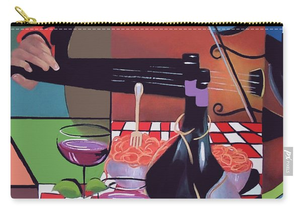 Wine And Roses Carry-all Pouch