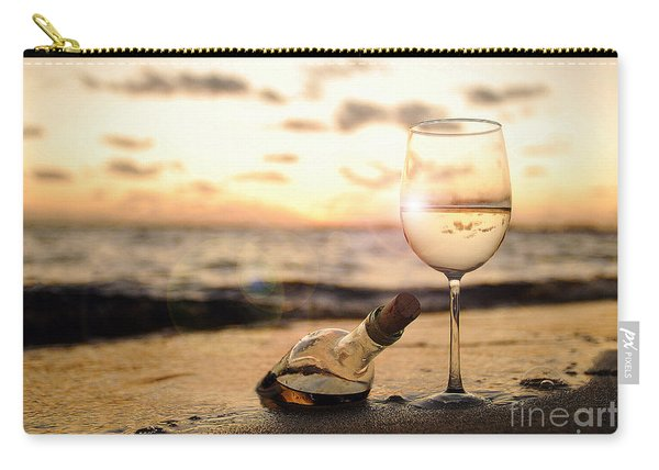 Wine And Sunset Carry-all Pouch