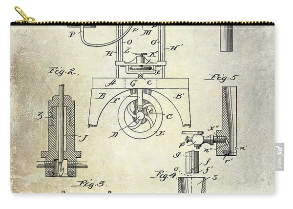 1890 Wine Bottling Machine Carry-all Pouch