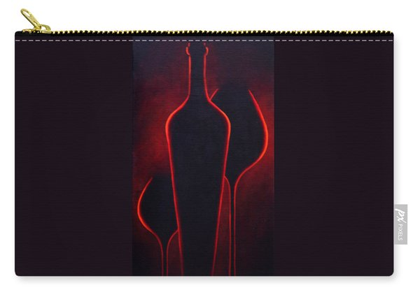 Carry-all Pouch featuring the painting Wine Glow by Sandi Whetzel