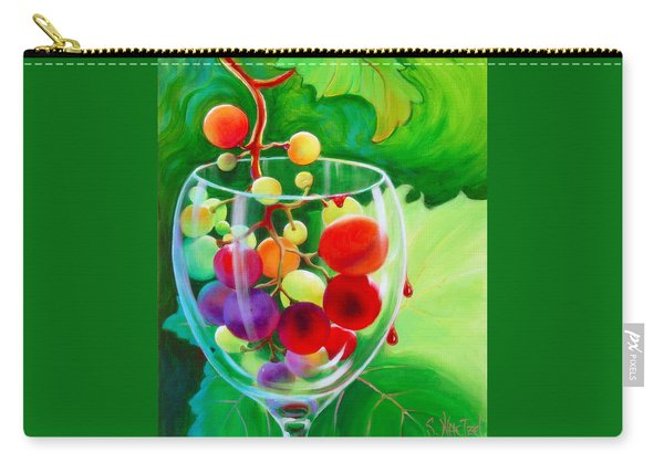 Carry-all Pouch featuring the painting Wine On The Vine IIi by Sandi Whetzel