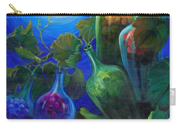 Carry-all Pouch featuring the painting Wine On The Vine by Sandi Whetzel