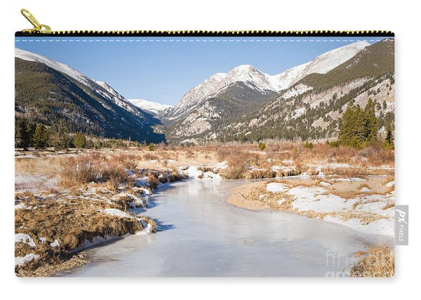 Winter At Horseshoe Park In Rocky Mountain National Park Carry-all Pouch