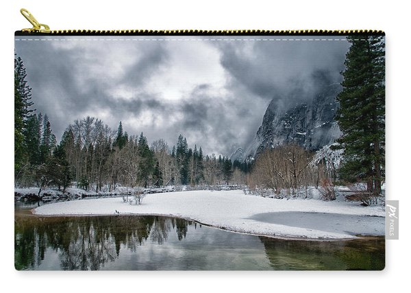 Winter At Swinging Bridge Carry-all Pouch