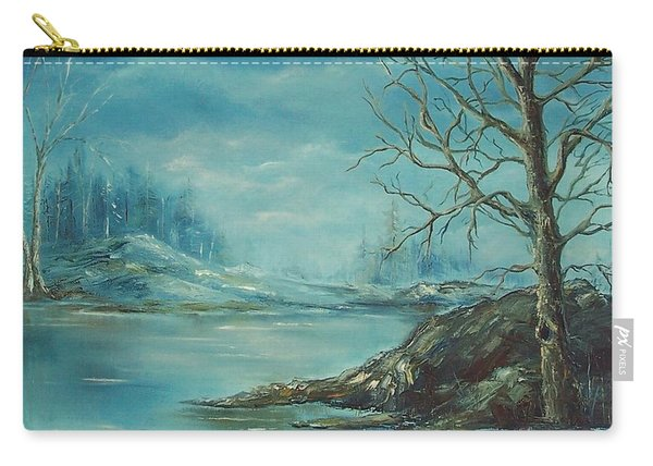 Winter Blue Carry-all Pouch