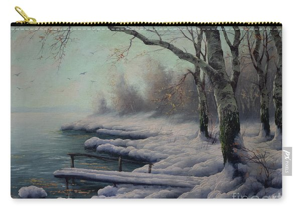 Winter Coming On The Riverside Carry-all Pouch