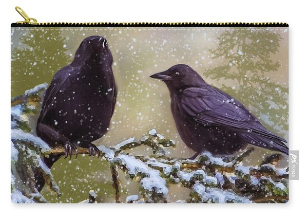Winter Crows Carry-all Pouch