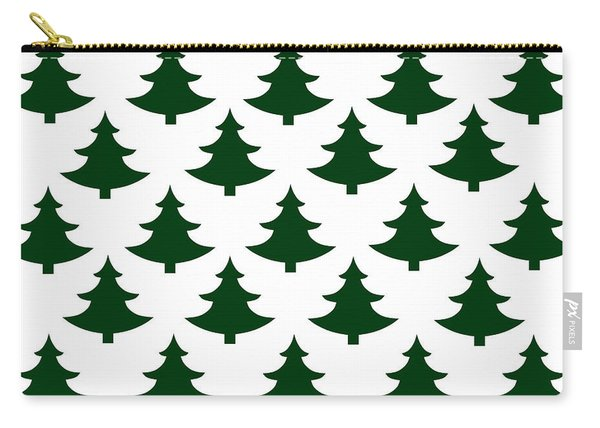 Winter Green Christmas Tree Carry-all Pouch