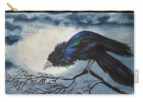 Carry-all Pouch featuring the painting Winter Is Coming by Diane DeSavoy