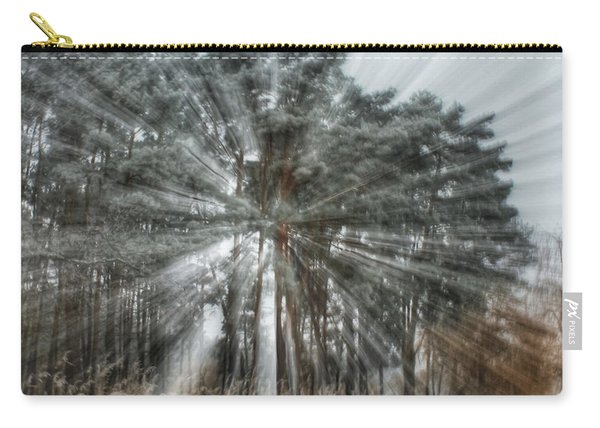 Winter Light In A Forest Carry-all Pouch