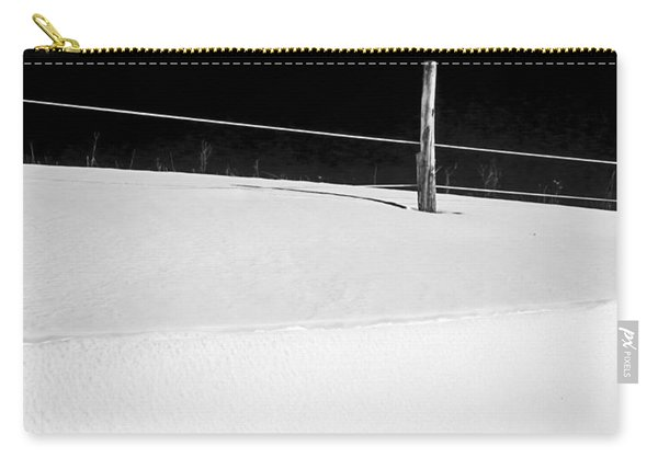 Winter Minimalism Black And White Carry-all Pouch