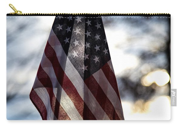Winter Morning Patriotism Carry-all Pouch