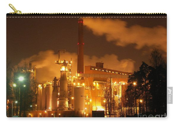 Winter Night At Sunila Pulp Mill Carry-all Pouch