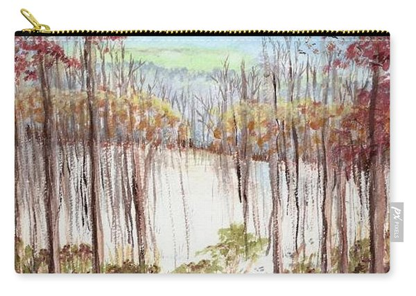 Winter Scene Tracks Carry-all Pouch