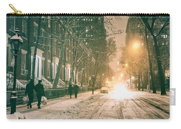 Winter - Snow - Washington Square - New York City Carry-all Pouch