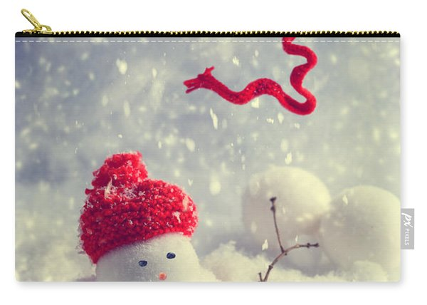 Winter Snowman Carry-all Pouch