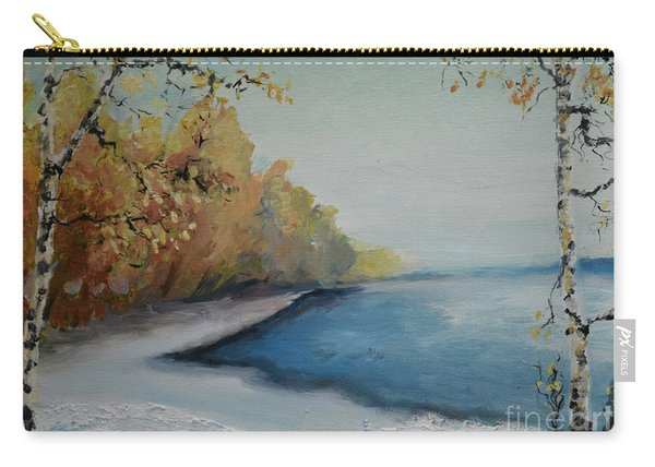 Winter Starts At Kymi River Carry-all Pouch