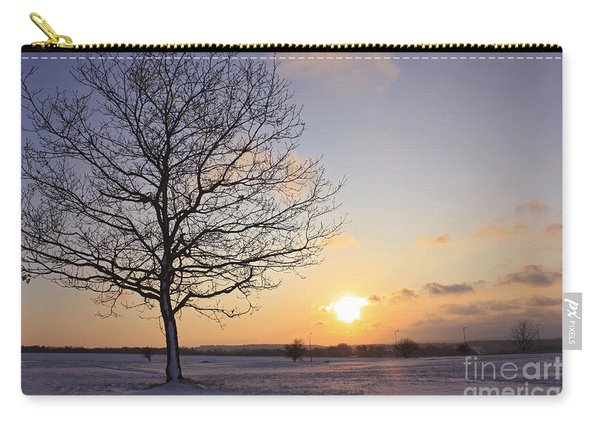 Winter Sunset Uk Carry-all Pouch