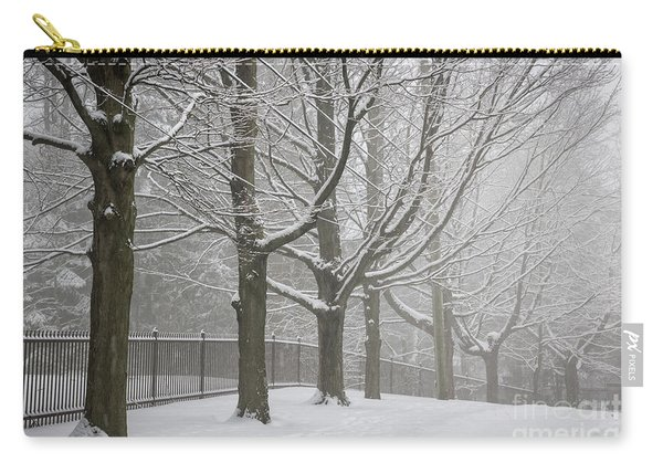 Winter Trees And Road Carry-all Pouch