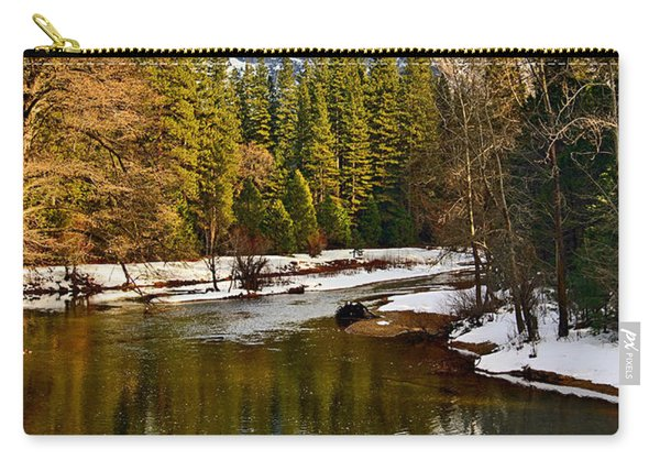 Winter View Of Half Dome In Yosemite National Park. Carry-all Pouch