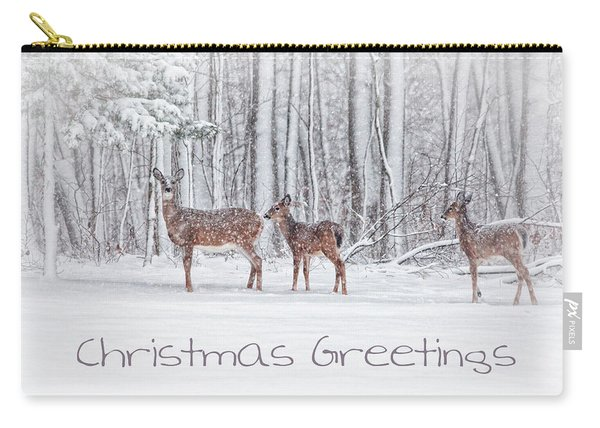 Winter Visits Card Carry-all Pouch
