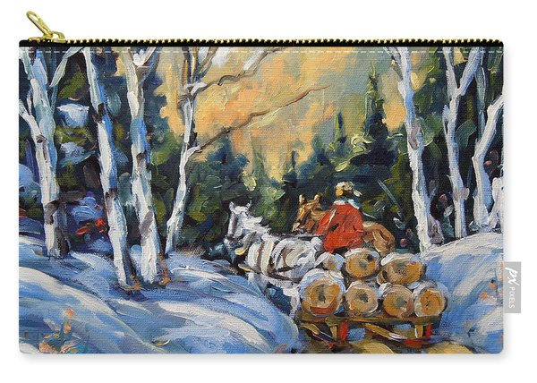 Winter Wood Horses By Prankearts Carry-all Pouch