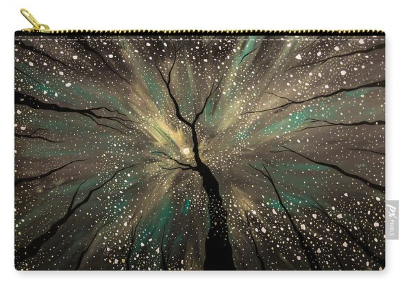 Carry-all Pouch featuring the painting Winter's Trance by Joel Tesch