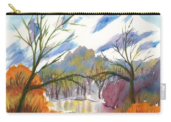 Wintry Reflections Carry-all Pouch