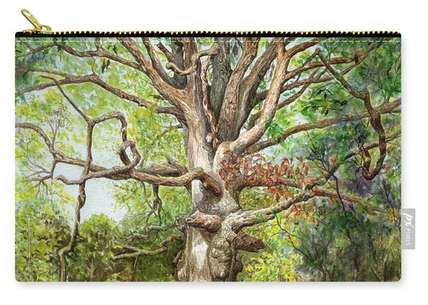 Carry-all Pouch featuring the painting Wisdom by Nancy Cupp