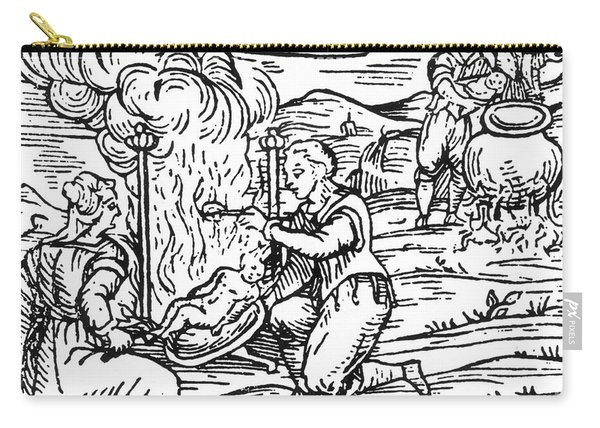 Witches Roasting And Boiling Infants Carry-all Pouch