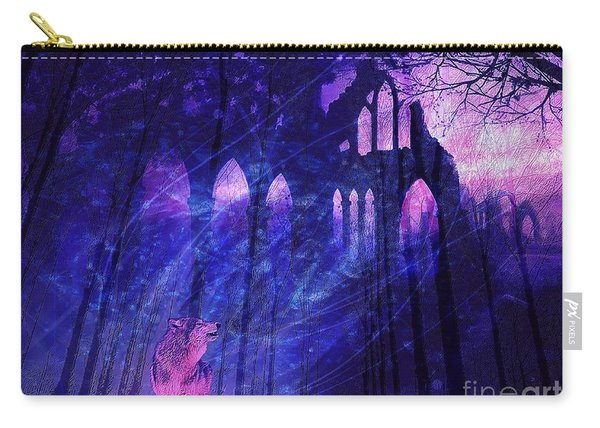 Wolf And Magic Carry-all Pouch