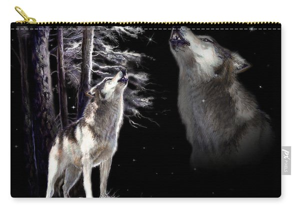 Wolf  Howling Memory Carry-all Pouch