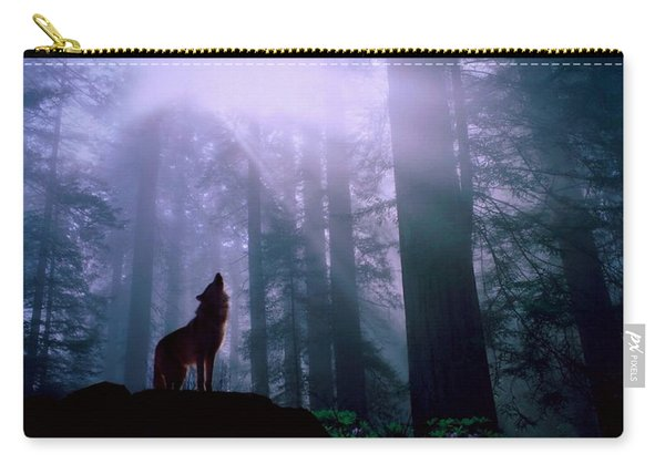 Wolf In The Woods Carry-all Pouch