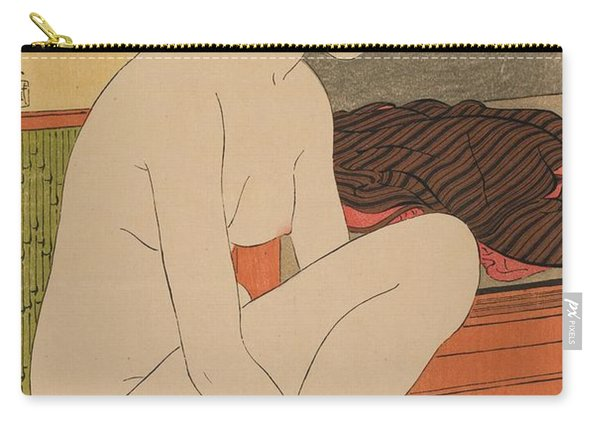 Woman Bathing Taisho Era Carry-all Pouch