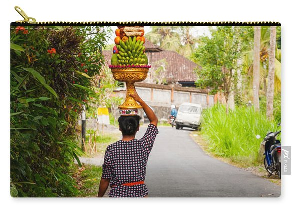 Woman Carrying Offering To Temple Carry-all Pouch