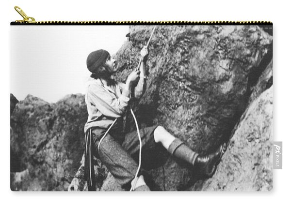 Woman Climbing In Zion Carry-all Pouch