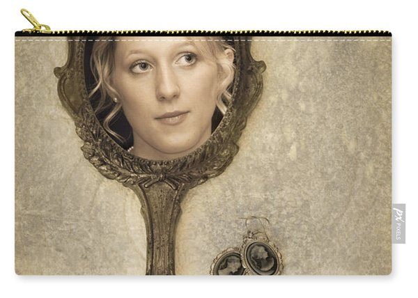 Woman In Mirror Carry-all Pouch