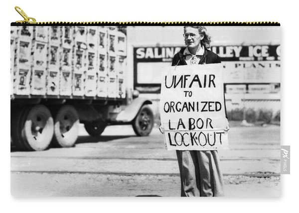 Woman Pickets In Salinas Carry-all Pouch