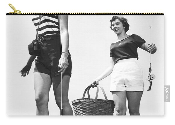 Women Going Fishing Carry-all Pouch