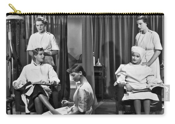 Women In A Beauty Salon Carry-all Pouch